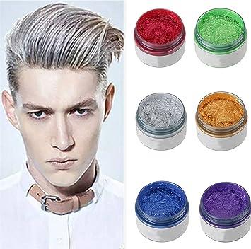 Ilovediy Cire Coiffante Cheveux Gel Colorant Cheveux Coloration