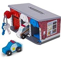 Melissa & Doug - 3 garajes y vehículos