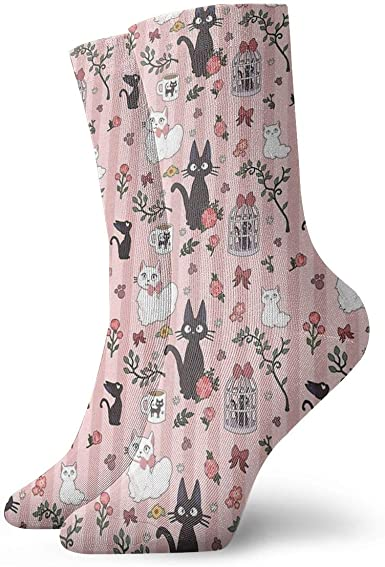 Jiji calcetines deportivos con diseño de gato para correr ...