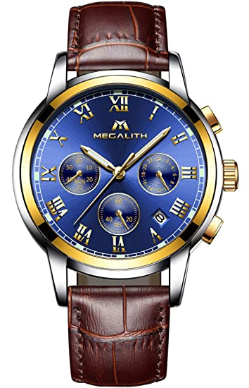 Relojes Reloj Clasicos Reloje Pulsera Cuero De Deportivo Impermeable Luminosos Cronómetro Día Lujo Cronografo Para Hombre Analogicos Fecha IYD92WEHeb