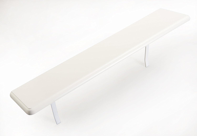 "48"" Inch Radiator Shelf- Available in Mahogany, Oak & White (White)"