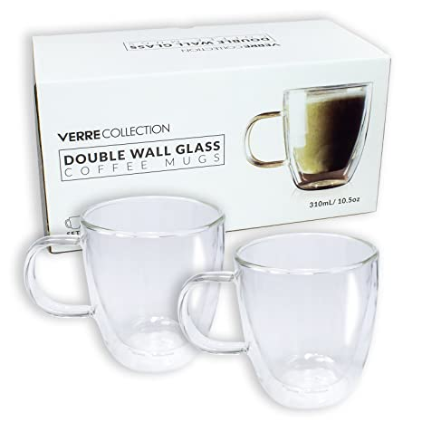Glass 5 Cappuccino Of MugCoffee Latte Double Wall Oz Espresso CupSet 2210 8OnvmN0w