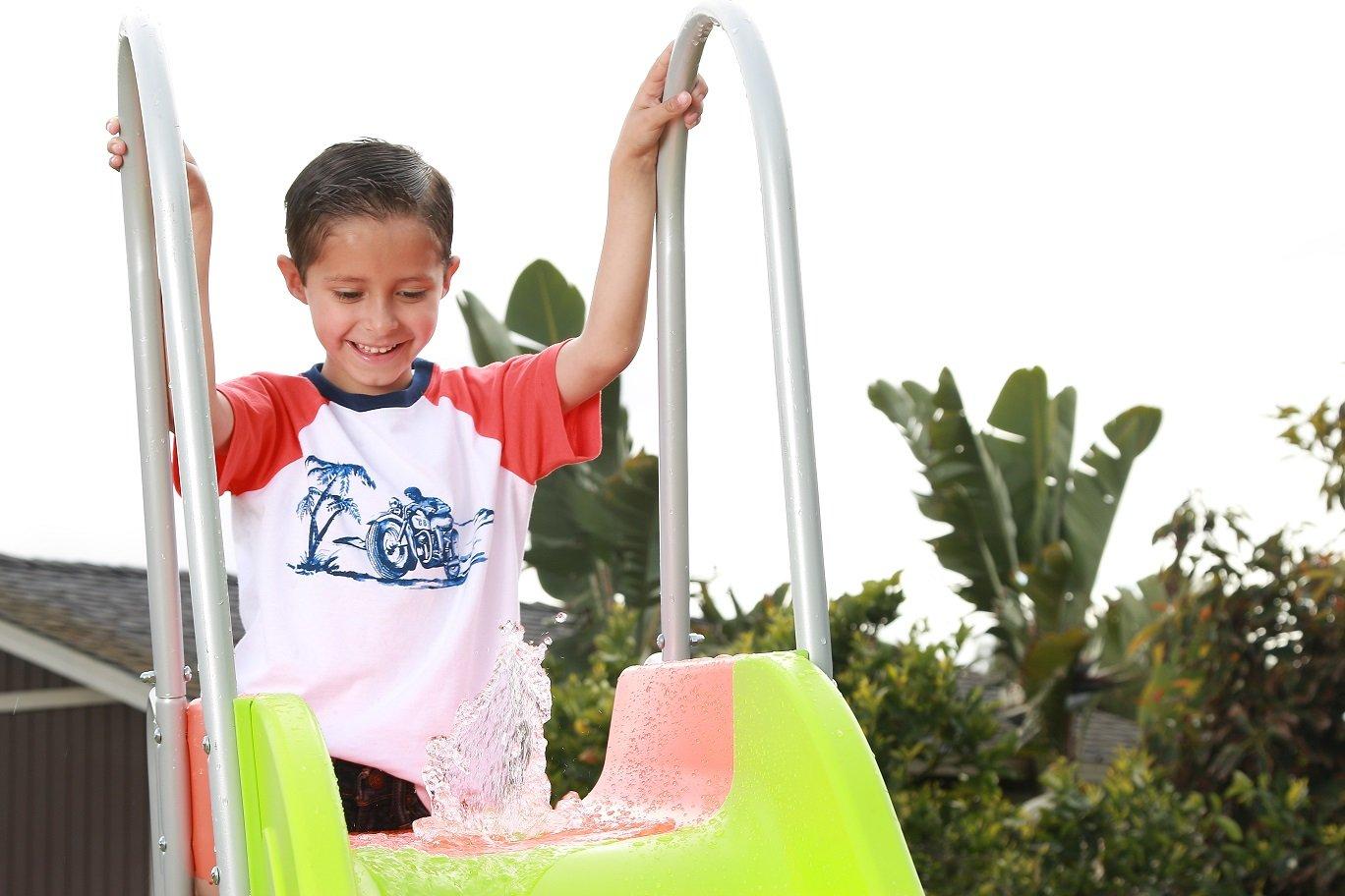 SLIDEWHIZZER Outdoor Play Set Kids Slide: 10 ft Freestanding Climber, Swingsets, Playground Jungle Gyms Kids Love - Above Ground Pool Slide for Summer Backyard by SLIDEWHIZZER (Image #2)