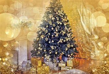 Amazon Com Ofila Christmas Backdrop Bokeh 9x6ft Photography