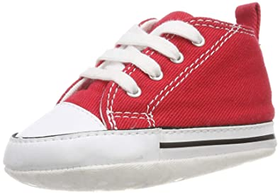05ffd4867f45de Converse Baby First Star High Top Sneaker red 1 M US Infant