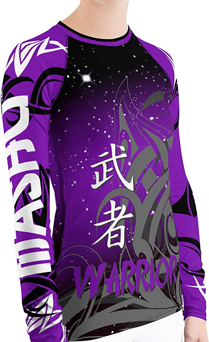 MASHU Fight Wear Black Panther Mens BJJ MMA Martial Arts Grappling Jiu Jitsu Rash Guard Compression Shirt