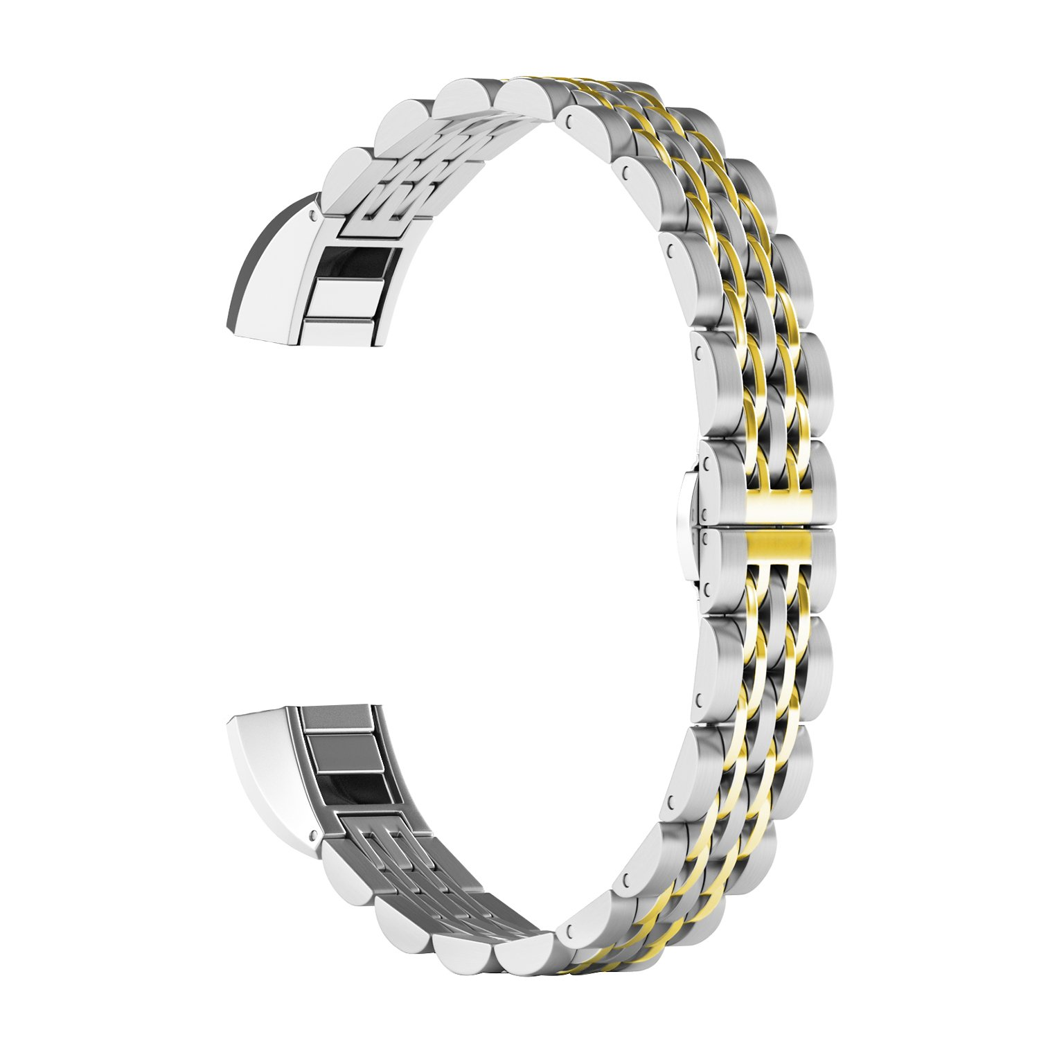 ImmSss for Fitbit Alta HR Bands and Fitbit Alta Bands, Stainless Steel Jewelry Bracelet Accessories Replacement Band for Fitbit Alta HR and Fitbit Alta for Women Men, 5.5''-8.9''