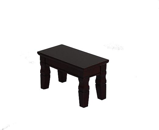 stand display shelf 1 set 2 PC China brown Ji-chi wood Mini table rectangle base