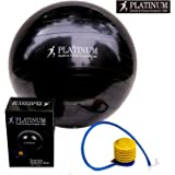 2000lbs Static Strength Exercise Yoga Fitness Stability Ball with Foot Pump Slip Resistant GYM QUALITY Improves Balance, Core Strength, Back Pain & Posture - For Men & Women