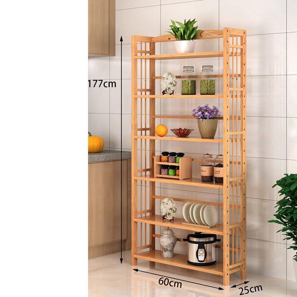 Amazon Com Jx Boos Floor Bookcase Simple Kitchen Shelf Storage Rack