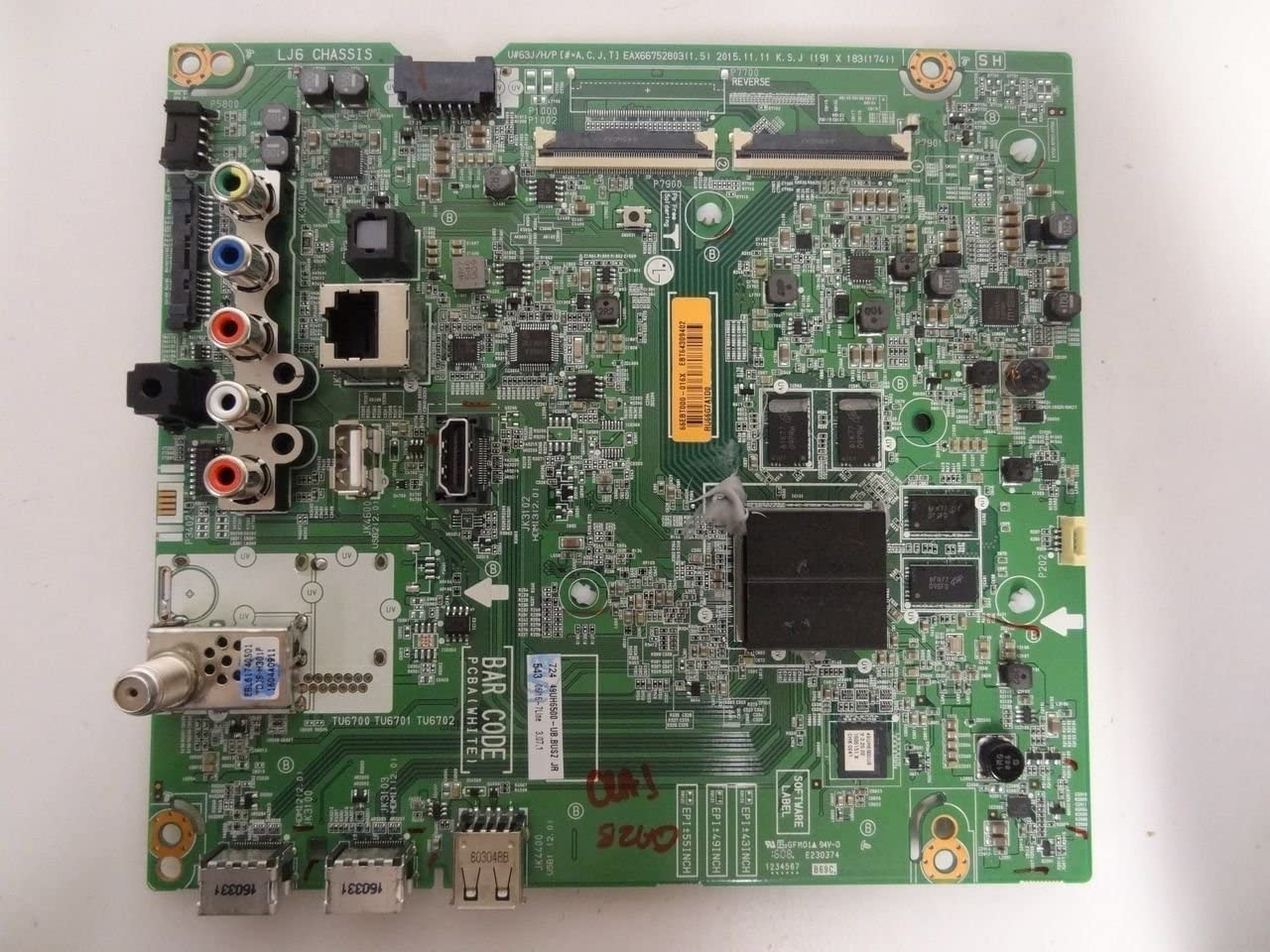 LG 49uh6500-ub buszljr principal junta (eax66752803) parte # ebt64309402: Amazon.es: Electrónica