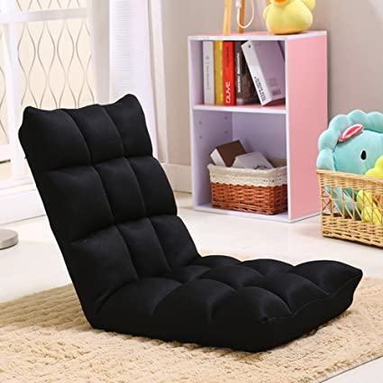 Lounge Chairs ZHIRONG Adjustable Folding Lazy Sofa 6 Position Relax Chair  Floor Cushion Multiangle Couch