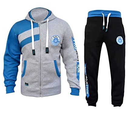 2fa4e16f2eac79 Star Trendz Kids Tracksuits Boys Girls HNL Projection Print Hoodie   Bottom  Joggers Suit New Age 7-13  Amazon.co.uk  Clothing