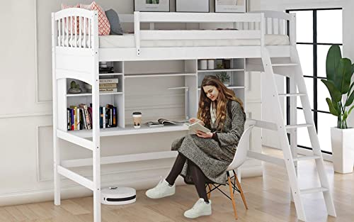 Twin Size Loft Bed Frame