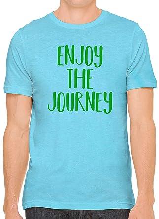 b37db8408 Enjoy The Journey Green Print Unisex Premium Crewneck T-Shirt Tee, Aqua XS