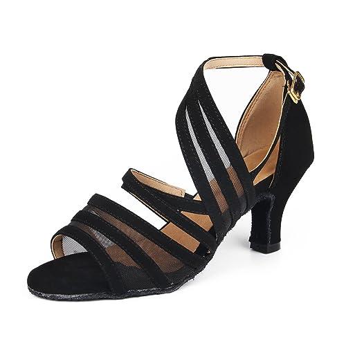 ed3faca9 SUKUTU Nuevas Mujeres Zapatos de Baile de Tango Salón de Baile Latino  Zapatos de Baile de Satén para Mujeres Salsa Zapatos de Mujer SU002:  Amazon.es: ...