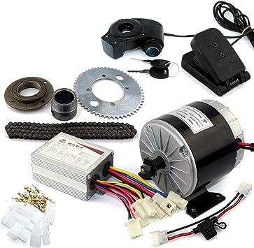Sistema del motor de 24V36V 350W Motor Gokart eléctrico con el pedal del gas Kit de conversión eléctrico de la bici del niño DIY Carro eléctrico de 4 ruedas (24V pedal kit):