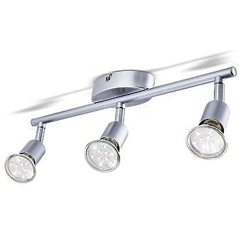 B K Licht Led Deckenleuchte Schwenkbar Inkl 3 X 3w Gu10 Led Lampen
