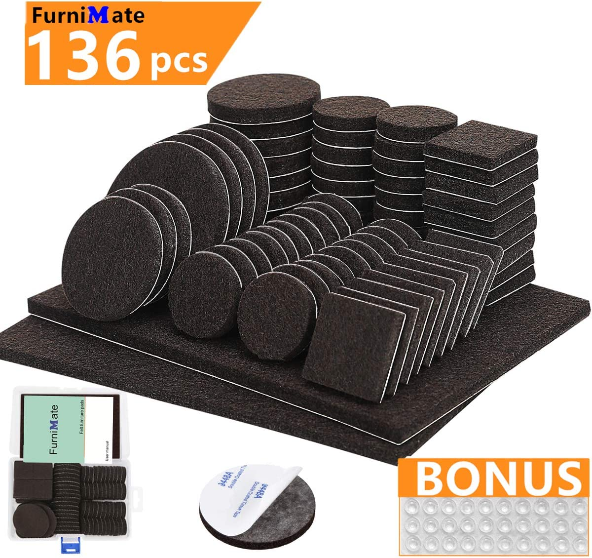Floor Protector Pads 76 Pack Furniture