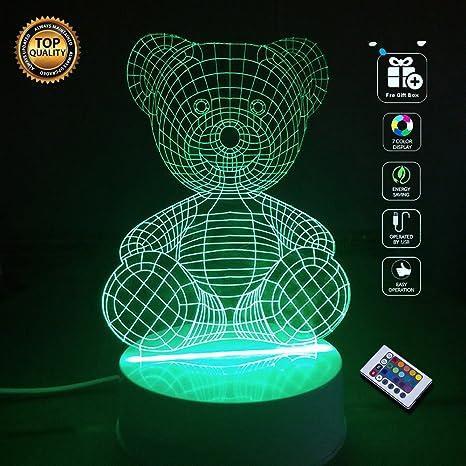 Simpatico orso  BOPU® 7 Cambiano Colore Luci dell arte Scultura Up ... 49112570c1