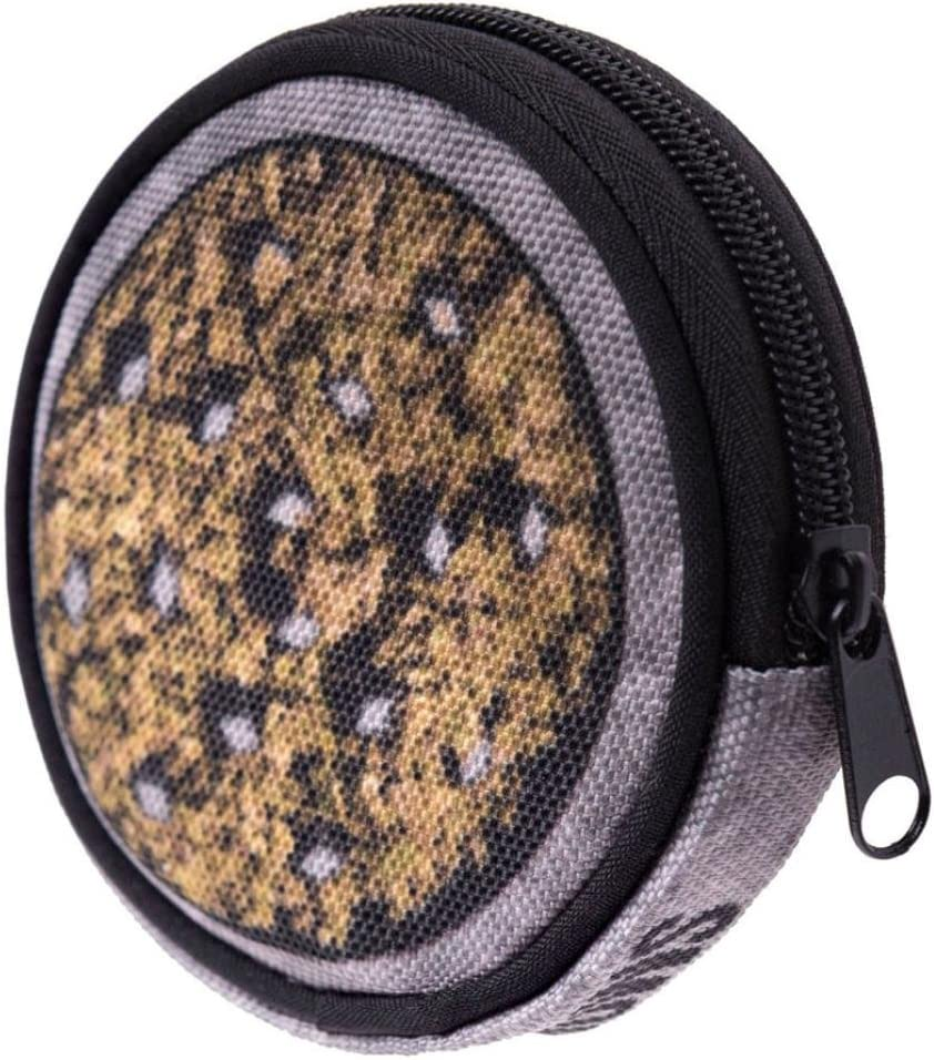 Beige Omiky/® Circular Oxford Cloth Printing Coins Change Purse Clutch zipper Zero Wallet Key Bags