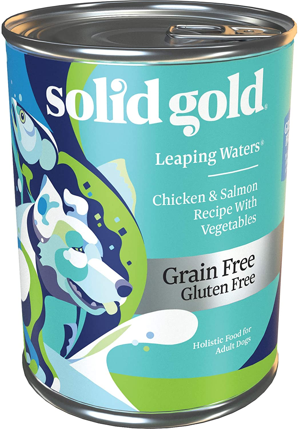 Solid Gold - Leaping Waters - Grain Free Wet Dog Food - 13.2-oz Can 6Count