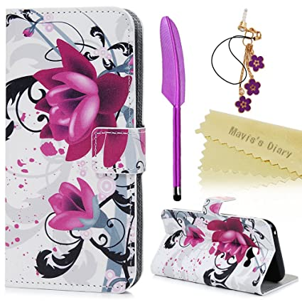 brand new 47b41 7a1f3 Mavis's Diary Galaxy A5 Case 2017 Wallet Flip PU Leather Case Shockproof  with Soft TPU Case Magnetic Stand Protective Bumper Cover for Samsung  Galaxy ...