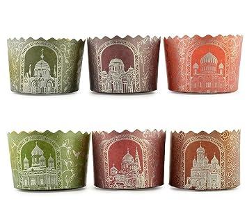 Moldes de papel Panettone para repostería de Paska, Paska, Kulich, A4, 15,2 x 11,4 ml: Amazon.es: Hogar