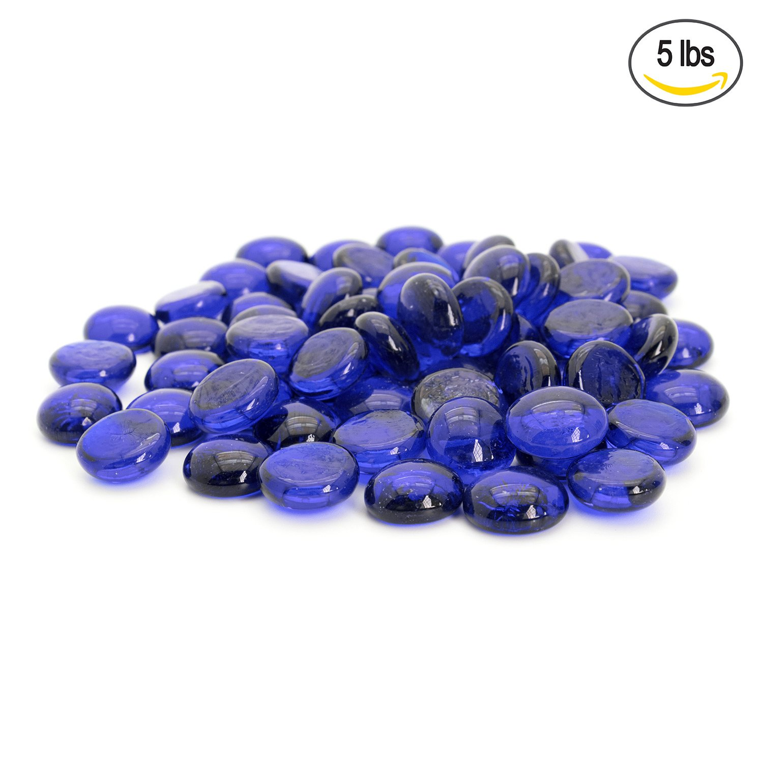 Amazon flat clear marbles pebbles 5 pound bag for vase blue flat marbles pebbles glass gems for vase fillers party table scatter reviewsmspy