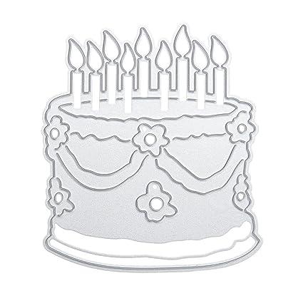 Swell Demiawaking Birthday Cake Cutting Dies Stencil Frame Diy Funny Birthday Cards Online Inifodamsfinfo