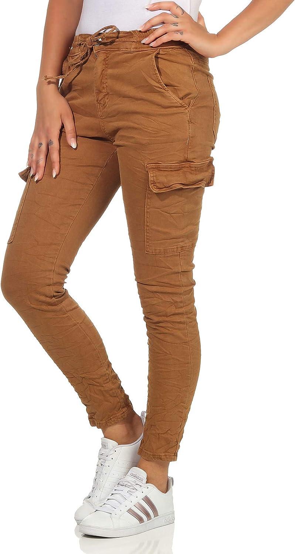 Trendy Jeans da donna in stile Cargo//jeans a fianchi boyfriends pantaloni Baggy in colori moderni//stretch 92