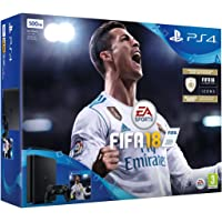 Sony PlayStation 4 500GB Console - Black - FIFA 18 Bundle with FIFA 18 Ultimate Team Icons and Rare Player Pack