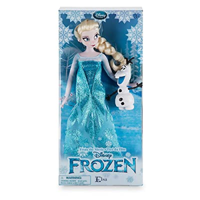 Disney New in Box Store Frozen 12'' Inches Elsa Classic Doll with Olaf 2016 in New Packaging: Toys & Games