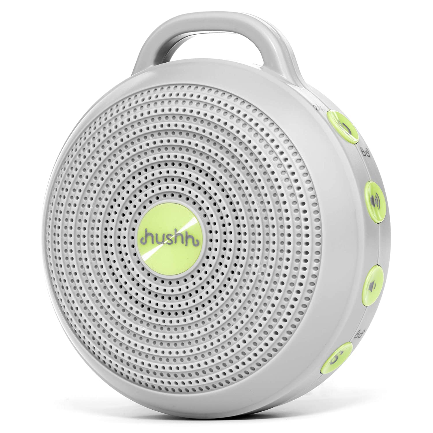 Marpac Hushh Portable White Noise Machine for Baby   3 Soothing, Natural Sounds with Volume Control   Compact for On-the-Go Use & Travel   USB Rechargeable   Baby-Safe Clip & Child Lock