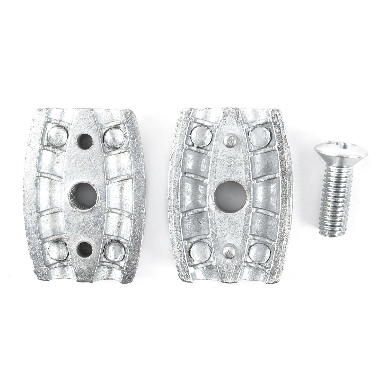 5 pcs acier galvanis/élire serre-c/âbles ovale 6mm zingue