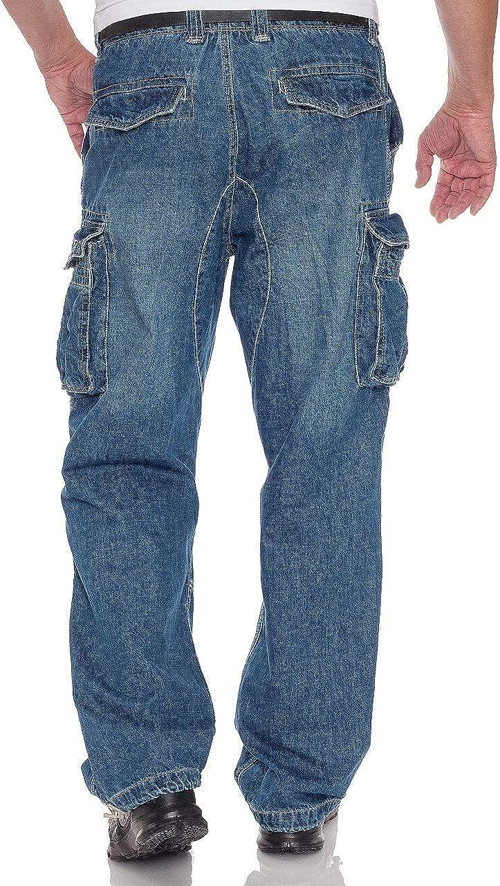 Jet Lag Herren Cargo Jeans Hose Safety Loose-Fit denim Lt.navy