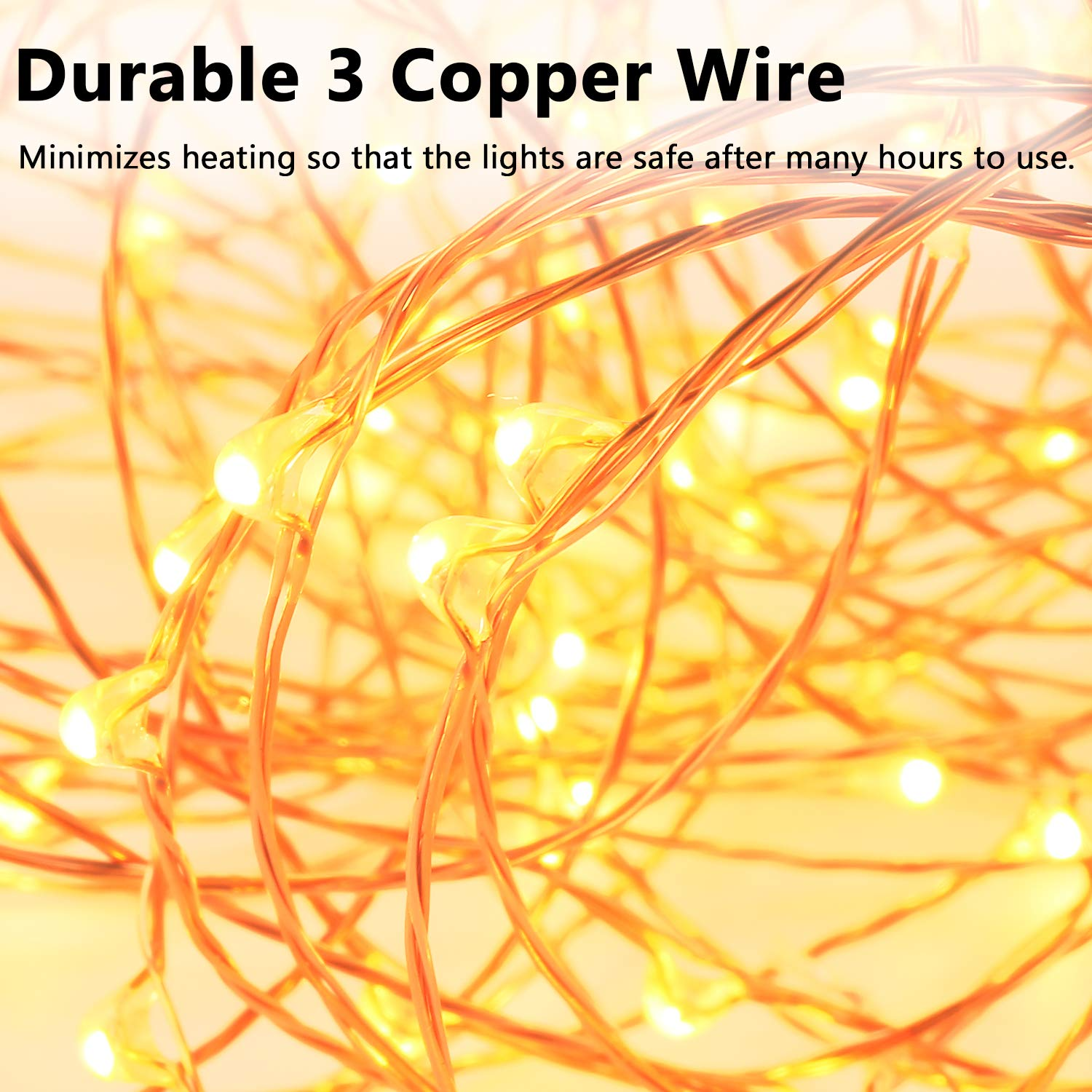 99 Feet 300 Leds Copper Wire String Lights Dimmable Re Light Rose Wiring With Remote Control Decobree Christmas Ul Listed For Party Wedding Bedroom