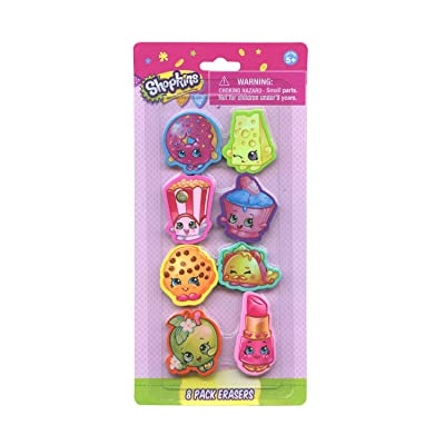 Creative Kids Shopkins 8pk Shaped Eraser on Card: Toys & Games