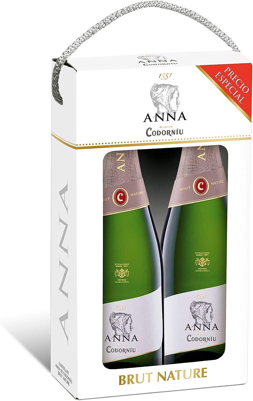 Codorníu | Estuche regalo Cava Anna de Codorníu Brut Nature | 2 botellas de 75 cl: Amazon.es: Alimentación y bebidas