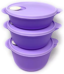 Crystalwave 3 Piece Microwave Bowl Set