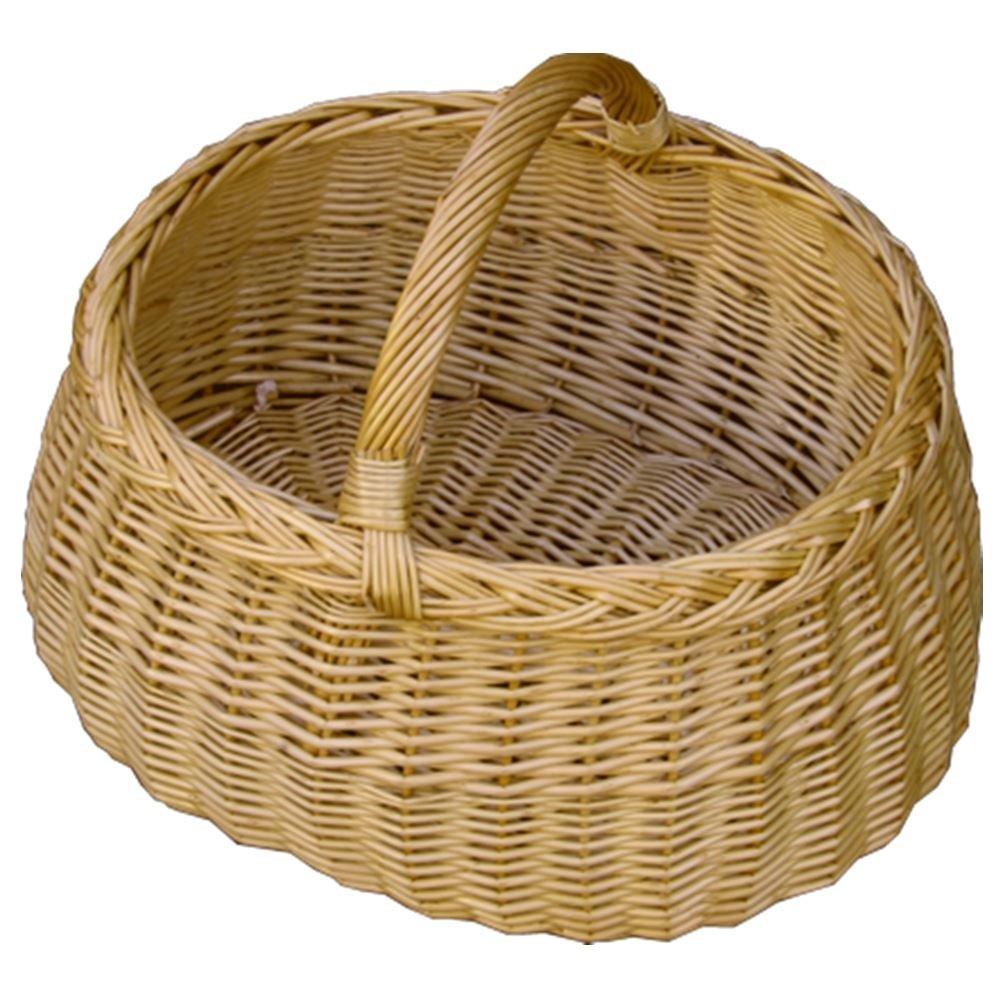 Deluxe Wicker Car Shopping Basket