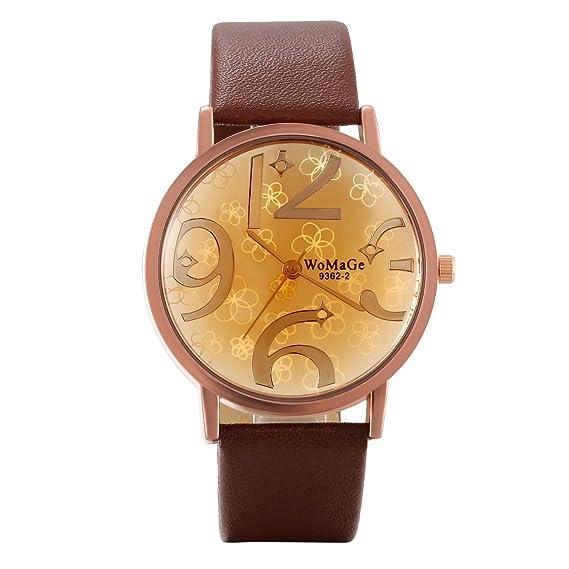 Lancardo Reloj Analógico Casual de Cuarzo Original Dial con Flores Números Árabes Grandes Pulsera Electrónica con