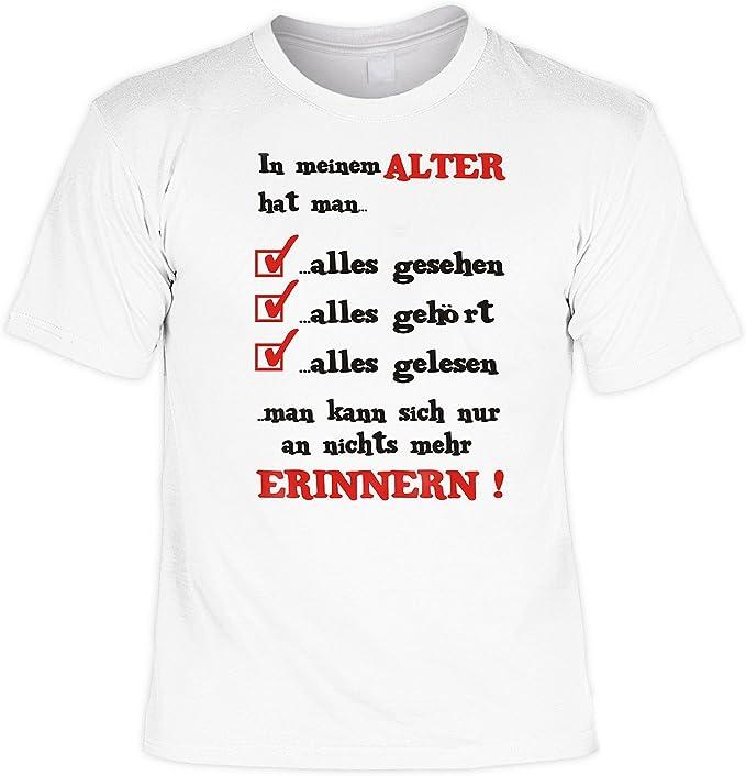 Lustige Spruche Fun Tshirt In Meinem Alter Hat Man Alles Geburtstag Tshirt Mit Urkunde Amazon De Bekleidung