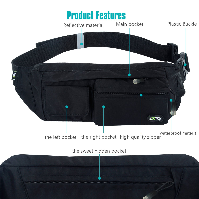 Amazon.com   EOTW Fanny Pack Belt Bag Waist Pocket Travel Pouch Sports Cell  Phone Holder Outdoor Money Belt Workout Running Belt Pack for iPhone 7 6S 6  Plus ... 0d646e5049745