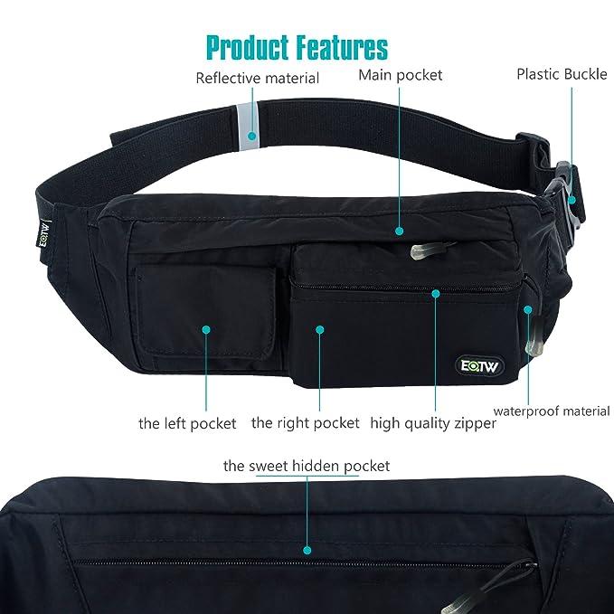 8050f9ab2f Amazon.com   EOTW Fanny Pack Belt Bag Waist Pocket Travel Pouch Sports Cell  Phone Holder Outdoor Money Belt Workout Running Belt Pack for iPhone 7 6S 6  Plus ...