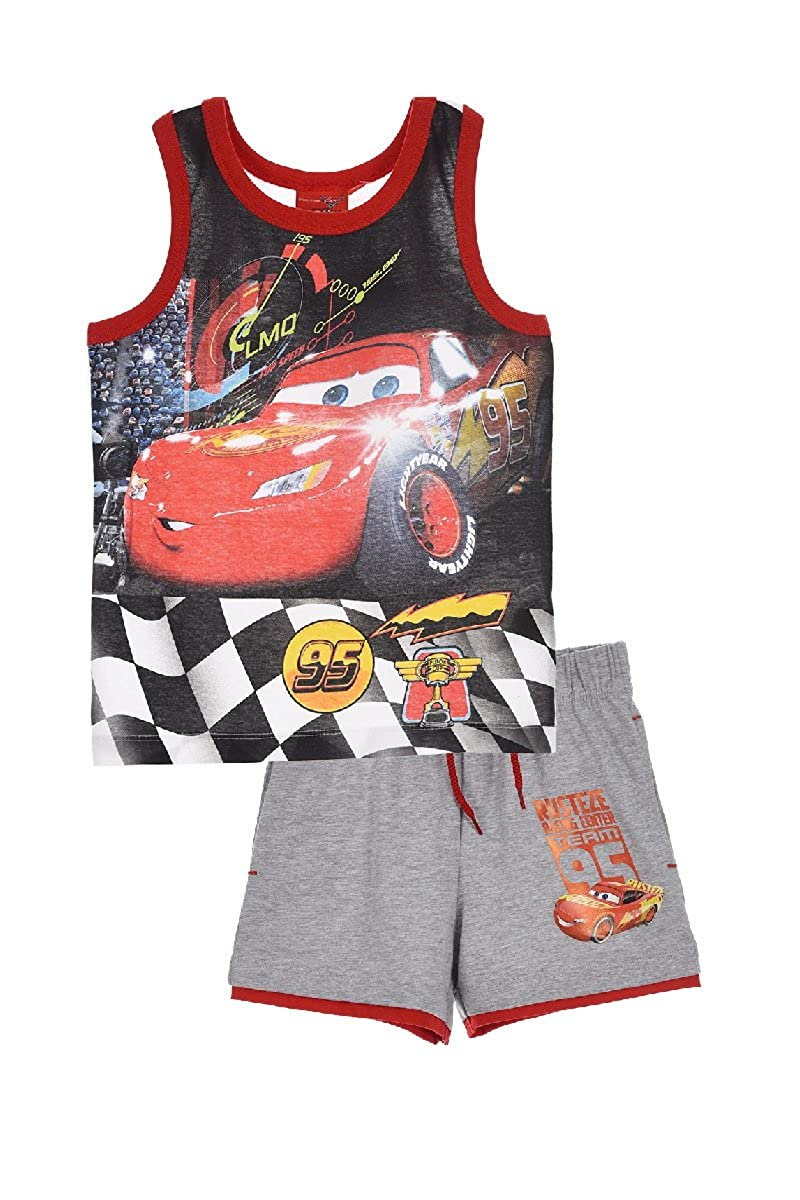 Disney / Pixar Cars Official Boys Summer Outfit Set Short Sleeve Top T-Shirt and Shorts 100% Cotton 2-8 Years 2018