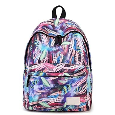 Amazon.com | School Backpack for Teen Girls, Tie-dye Colorful ...