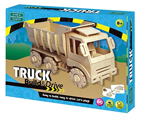 Amazon com: Green Board Games Build & Drive Truck: Toys & Games