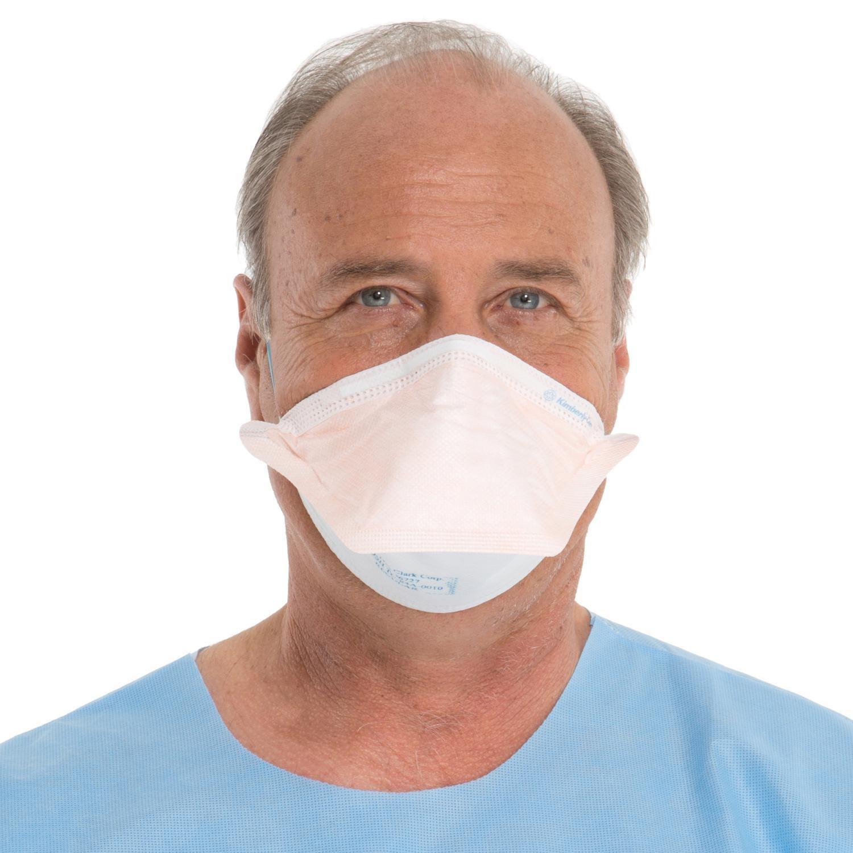 Halyard Health 46727 FLUIDSHIELD N95 Particulate Filter Respirator and Surgical Face Mask, Headband, Regular Size, Orange (Case of 210)