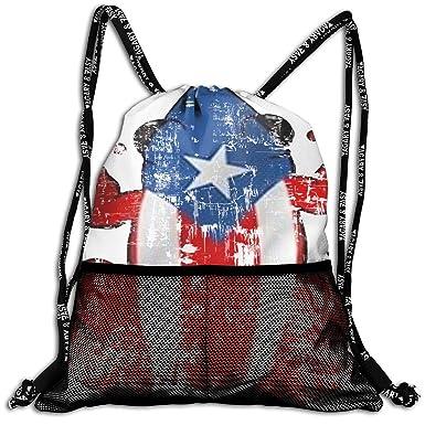 Amazon.com: Mochila con cordón, Puerto Rico, unisex, bolsa ...